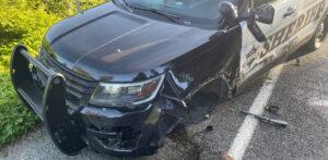 Snohomish County Sheriff vehicle damaged by tesla