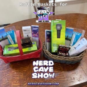 Raffle Baskets for Heros Fest